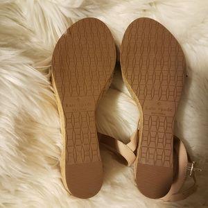 kate spade Shoes - Kate Spade women's Tomas ruffle wedge blush sandal